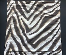 Rare! RALPH LAUREN GRASSLAND Safari Zebra EURO Square Pillow SHAM Brown Animal