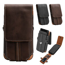 Universal Mobile Cell Phone Holster Pouch Leather Wallet Case with Belt Loop New