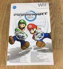 Nintendo Wii Mario Kart grandi multilingua solo manuale di istruzioni-nessun gioco