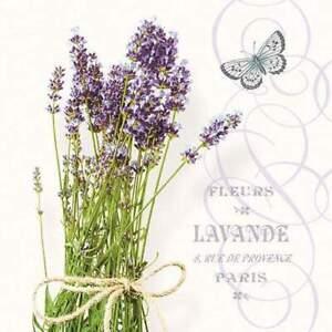 4 individual lavender decoupage napkins, mixed media, scrapbooking, craft