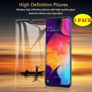 3 Pack Tempered Glass Screen Protector Case Cover Samsung Galaxy M30S A70 A90 5G