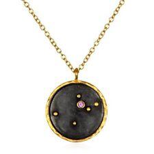 "Satya Aquarius (1/21 - 2/17) Zodiac 18"" Necklace Amethyst 18K Gold Plated Brass"