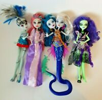 Monster high doll lot of 4 Frankie Amanita Nightshade Peri & Pearl Serpentine