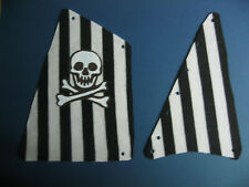 Ersatz Segel für Piratenschiff  6268 schwarze Streifen Skull Cloth Sail
