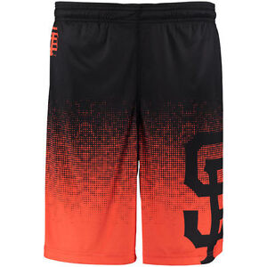 Men's San Francisco Giants Black Orange Gradient Shorts Gym