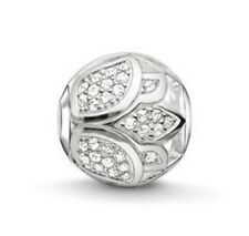 New THOMAS SABO Sterling Silver & Cubic Zirconia Lotus Karma Bead K0204 £79