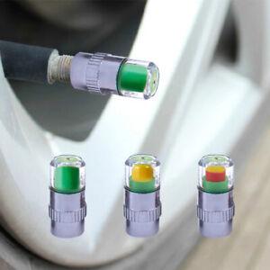 4PCS Car Auto valve caps Pressure Indicator Valve Wheel Tires Valves Tyre S_BI