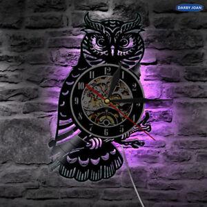 Night Owl Retro LED LP Vinyl Wall Clock Light Color Changing Night Lights Lamp