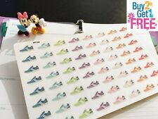 PP140 -- Small Running Shoes Life Planner Stickers for Erin Condren (64 pcs)