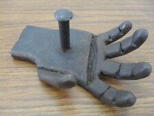 Vintage Cast Iron Hand Figurine Tool Hook Doorstop Home Décor.