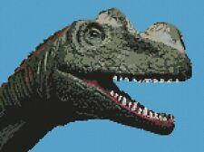 "Dinosauro contato CROSS STITCH KIT 11 ""X 8.25"" JURASSIC PREISTORICI d2367"