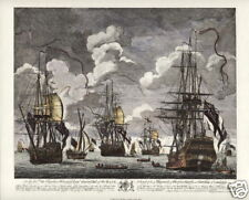 BATTLE of CAPE FINISTERRE 1747 - Maritime Naval Battle Art Prints - Set of Four