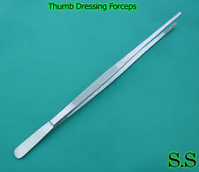 "(Lot of 10) 24"" Large Tweezers Huge Long Thumb Dressing Forceps"
