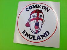 Copa Del Mundo-vamos Inglaterra Reino Unido Gb St George Sticker Decal 1 De 80 Mm