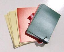 4 confezioni da 24 (96) Scheda semplice Tradizionale Etichette Regalo in 3 colori in bianco un lato
