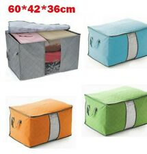 Large Size Bamboo Charcoal Clothes Storage Box Gray Case