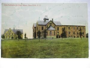 1910 POSTCARD STATE INSTITUTION FOR DEAF MUTES SIOUX FALLS IA SIOUX FALLS CANCEL
