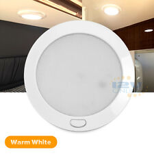 "12V 5"" LED Ceiling Light Warm White RV Motorhom Boat Interior Light with Switch"