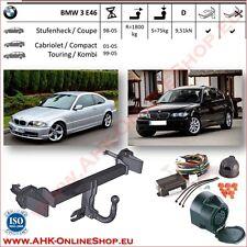 Gancio di traino BMW 3 E46 Berlina Coupe Cabrio 98-05 fisso Centralina 13-poli