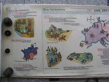 Wandbild Geschichtsfries Karl der Große 139x50 vintage charlesmagne wall chart