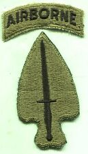 Vintage US Army Special Operations Command Airborne OD Subdued Patch Cut Edge