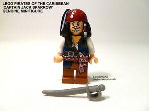 LEGO PIRATES OF THE CARIBBEAN CAPTAIN JACK SPARROW MINIFIGURE SWORD POC001 MINT