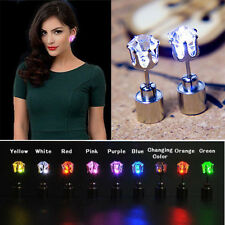9-Pair Fashion Bling Light up LED Ear Stud Glowing Earrings Accessory Party Xmas