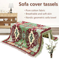 Cotton Extra Thick Sofa Throw Cover Chair Cover Blanket Multi use Bed Sheet room