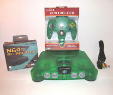 Nintendo 64 Jungle Green N64 Console Bundle w/ New Controller & Hookups! (NTSC)