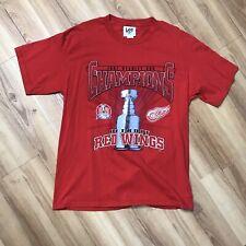 Vintage Detroit Red Wings 1997 Stanley Cup Champions T-Shirt Mens Large Crewneck