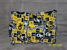 GT Georgia Tech Yellow Jackets BUZZ Rag Quilt Diaper Bag Tote Purse Great Gift