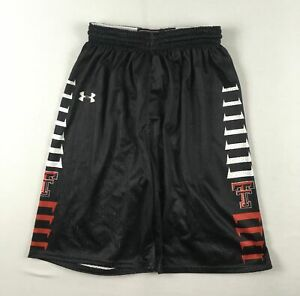 Texas Tech Red Raiders Under Armour Shorts Men's Black Poly NEW Multiple Sizes