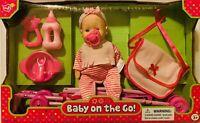 Lovee Baby Doll On The Go Stroller Bag Bottle Feeding Rattler Pacifier