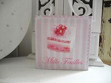 Mille Törtchen Torte Canvas Cupcake Wandbild Bild Romantik shabby chic French