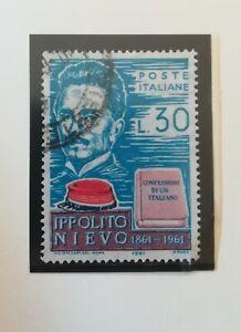 Francobolli Italia 1961 - Centenario Morte Ippolito Nievo - Usato