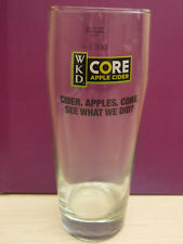 WKD core apple cider pint to line glass