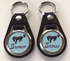 FORD BRONCO KEYCHAIN 2 PACK TRUCK LOGO BLUE