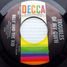 BILLY & THE KID mod garage VG++ Decca 45 TROUBLES OF MY OWN SHUT DOWN AGAIN JR20