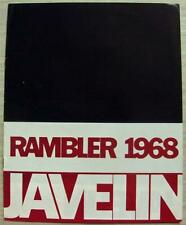 RAMBLER JAVELIN 1968 USA Car Sales Brochure #AMX 6804 English Export
