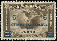 1932 Canada Mint Hinged F+ Scott #C4 (C2 Surcharged) Air Mail Issue Stamp