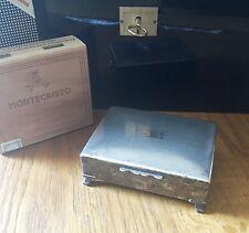 Zigarettendose, Zigarillo Humidor, ca.1950 Jahre, versilbert,wunderschöne Patina
