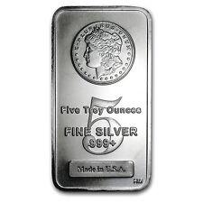 5 oz Silver Bar - Morgan Design - SKU #62295
