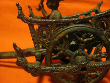 Rare Antique Chinese Toy Bronze Chariot