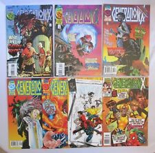 Lot (7) GENERATION X Comic Books #8, 9, 20, 22, 23, 38, 52 1995-1999 Collection