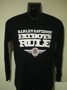 Harley Davidson Fatboys Rule 2014 Long Sleeve T-Shirt - S Only