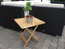 Beistell Tisch Beistelltisch Gartentisch Bambus Klapp Klapptisch 46 5x46 5x48 Cm