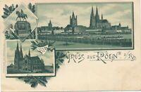 KOLN – Three Scenes Gruss Aus Koln – Cologne – Germany – udb (pre 1908)