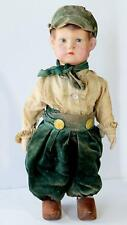 """Htf 18.5"""" Antique 1920s German Gunther Heine Cloth Character Doll, unmarked"""