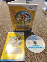 Super Paper Mario - Nintendo Wii/Wii U Game - With MANUAL Private Seller FREE PP