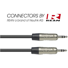 Câble Jack 3.5 Male STEREO vers Jack 3,5 Mâle STEREO long 1 Metre Rean By Neut